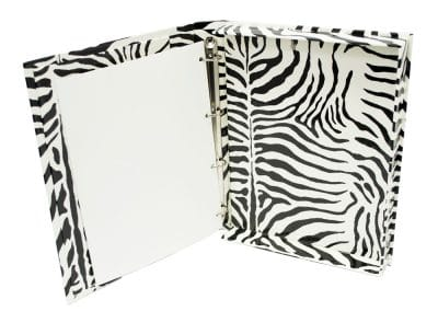 Casemade Box with Ring Metal Zebra