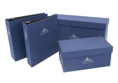 Turned Edge Casemade Boxes and Binders Set Holland Sherry SO163535