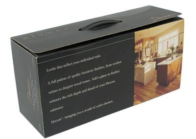 Corrugated Box with Handle and Poly Tab Dividers