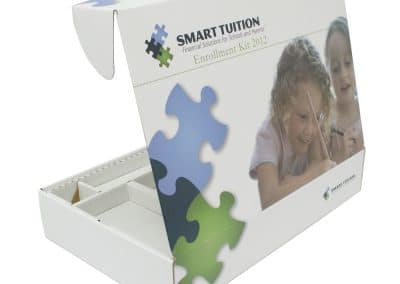 Corrugated Box with Handle and Custom Insert Smart Tuition
