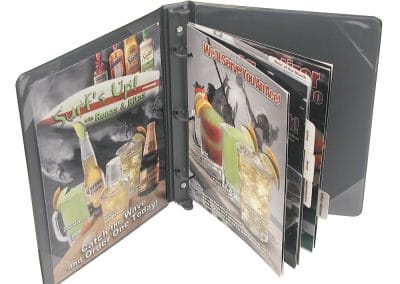 Vinyl Menu Binder Basketball
