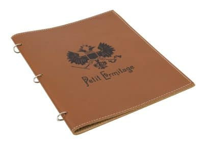 Leather Ring Folder Outside